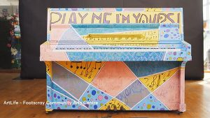 ArtLife - Footscray Community Arts Centre. Play Me Im Yours. Melbourne 2018.