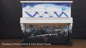 Thornbury Primary School & Artist Robert Young. Play Me Im Yours. Melbourne 2018.