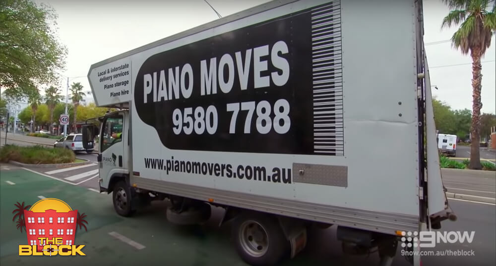 2018 the block australia piano movers